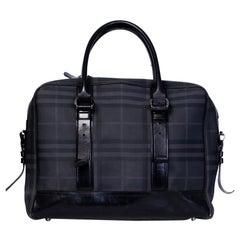 Burberry Large Black London Check Briefcase Bag