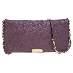 Burberry Lavender Pebbled Leather Madison Shoulder Bag