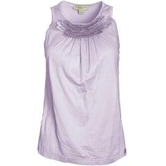Burberry Lavender Sleeveless Top Sz M