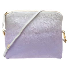 Burberry Lavender/White Ombre Leather Foldover Crossbody Bag