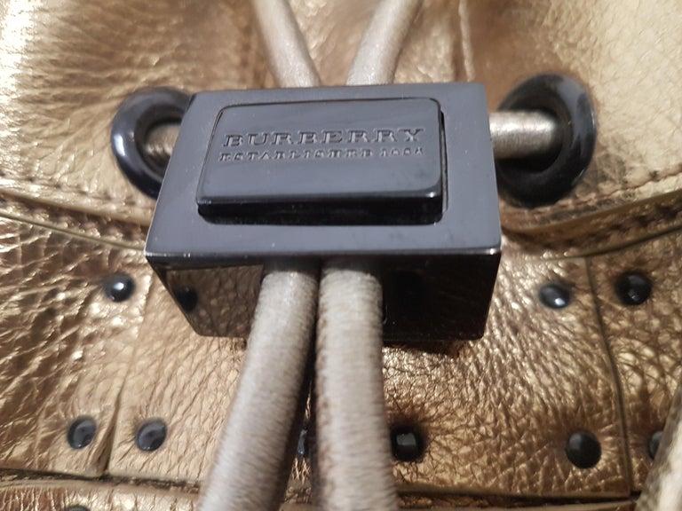 Beautiful Burberry Leather Bag with Straps. Detachable Shoulder Straps Color: Golden Bronze