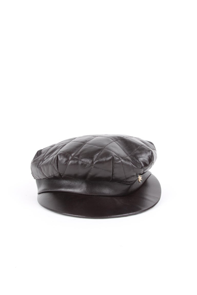 Lovely hat by Burberry crafted from supple brown leather.  COLOR: Brown  MATERIAL: Leather  CONDITION: 8/10  MEASURES: Size inside S,  54CM   ORGIN: Italy  AVAILABILITY: ready to ship