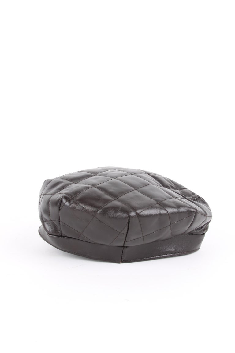 Burberry Leather Hat In Good Condition For Sale In Baarn, NL
