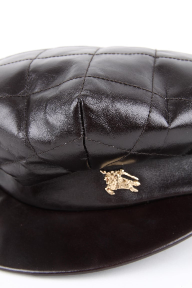 Women's or Men's Burberry Leather Hat For Sale