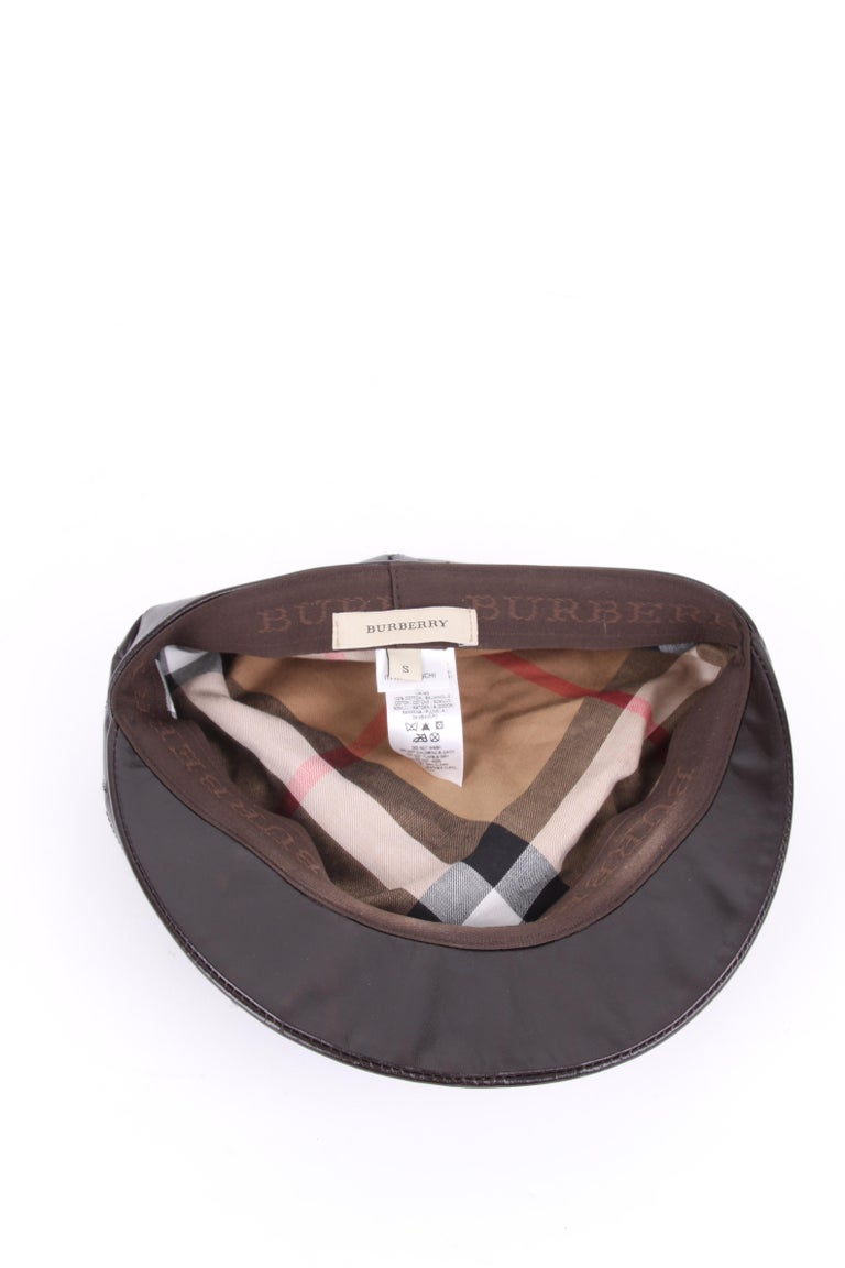 Burberry Leather Hat For Sale 1