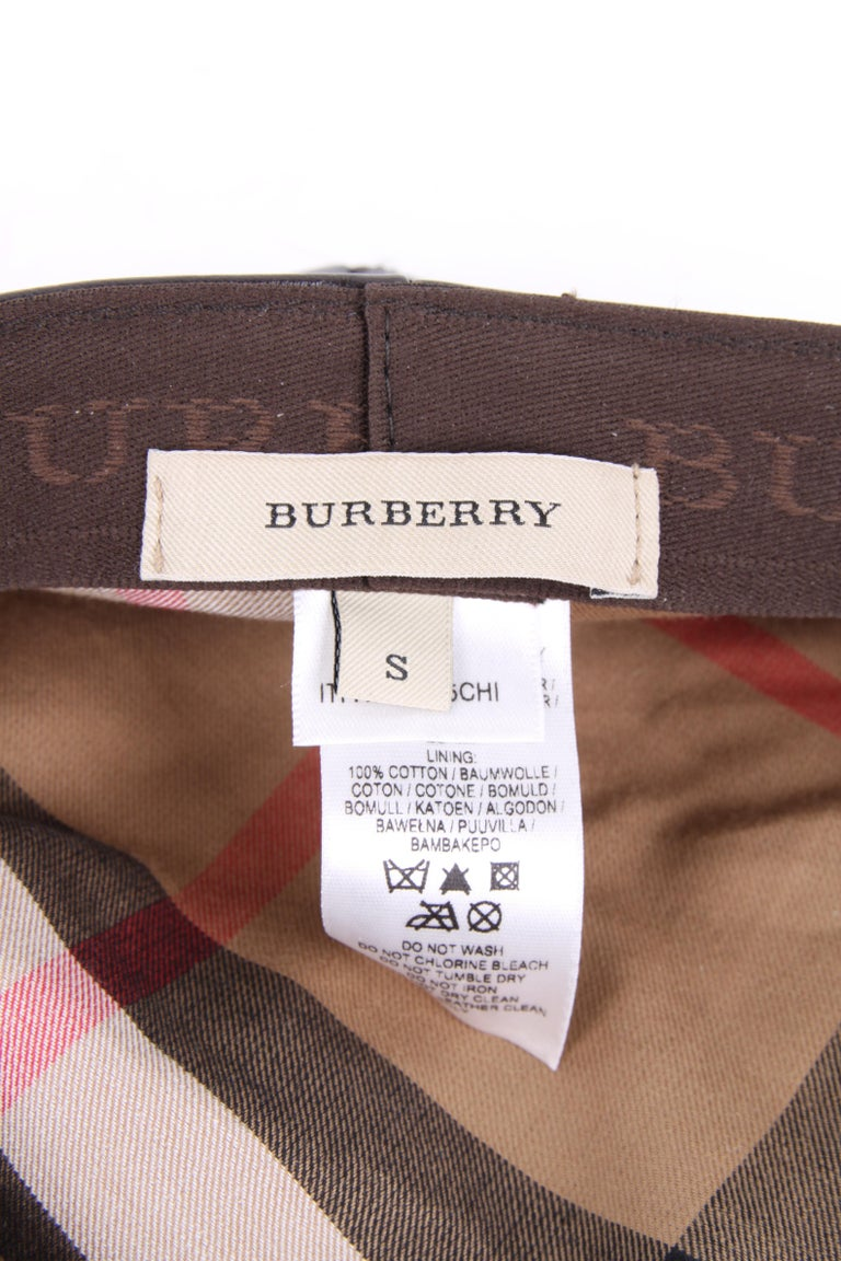 Burberry Leather Hat For Sale 2