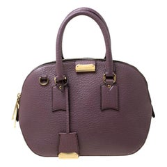 Burberry Lilac Leather Small Orchard Bowler Bag