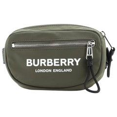 Burberry Logo Cannon Bum Bag Printed Nylon Small