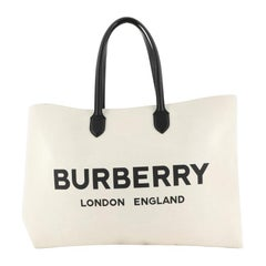 Burberry Logo Tote Canvas XL