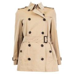 BURBERRY LONDON beige cotton Trench Coat Jacket 10 M