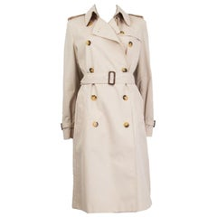 BURBERRY LONDON beige polyester & cotton Trench Coat Jacket 10 M