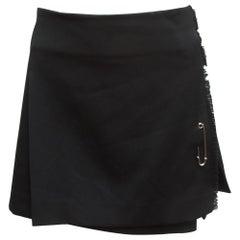 Burberry London Black Pleated Kilt Skirt