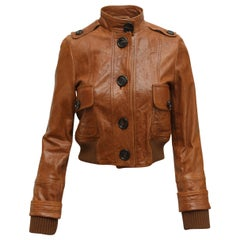 Burberry London Brown Leather Jacket