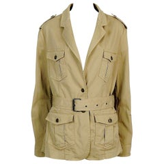 Burberry London Cotton Safari Jacket US Size 14
