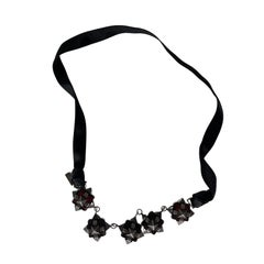 Burberry London Grosgrain and Metal Necklace