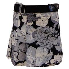 Burberry london multicoloured cupro skirt with belt
