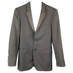 BURBERRY LONDON Size 34 Regular Black Wool / Mohair Tuxedo Suit