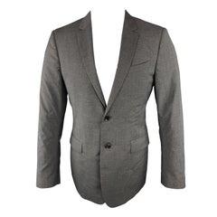 BURBERRY LONDON Size 40 Dark Gray Solid Regular Wool Sport Coat