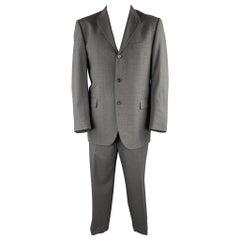 BURBERRY LONDON Size 42 Regular Dark Gray Wool Notch Lapel Suit