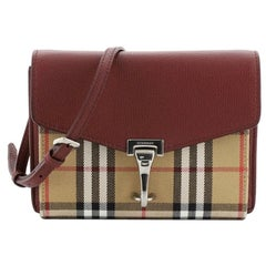 Burberry Macken Crossbody Bag Leather and House Check Canvas Small