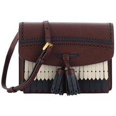 Burberry Macken Crossbody Bag Leather with Fringe Small
