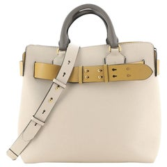 Burberry Marais Belt Tote Leather Small