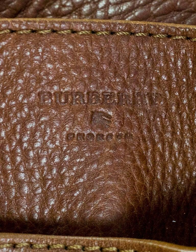 48267503587 Burberry Margaret Nova Check Canvas and Tan Leather Bag at 1stdibs