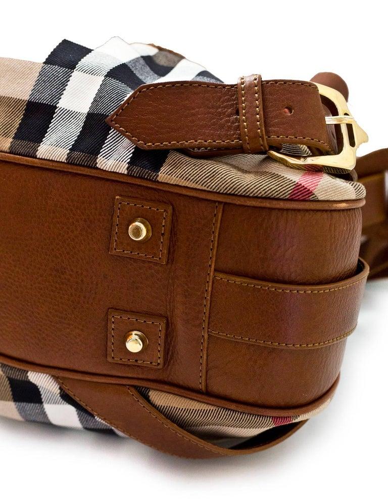 feb554618fb Women s Burberry Margaret Nova Check Canvas   Tan Leather Bag For Sale
