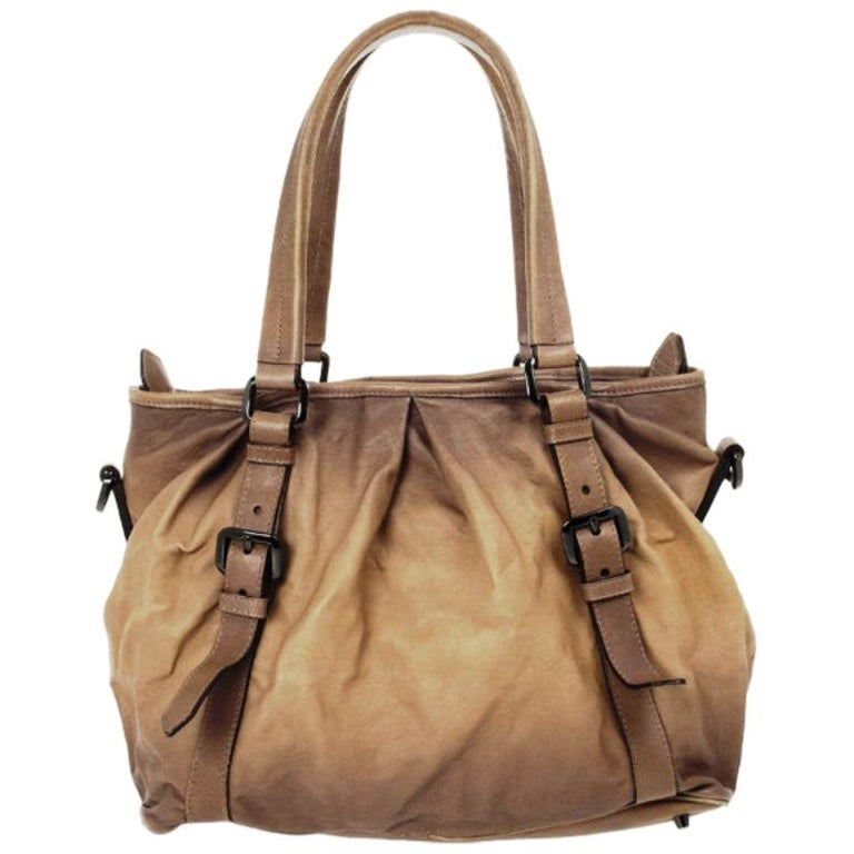a23231acc327 Burberry Medium Pleated Leather Tote For Sale at 1stdibs