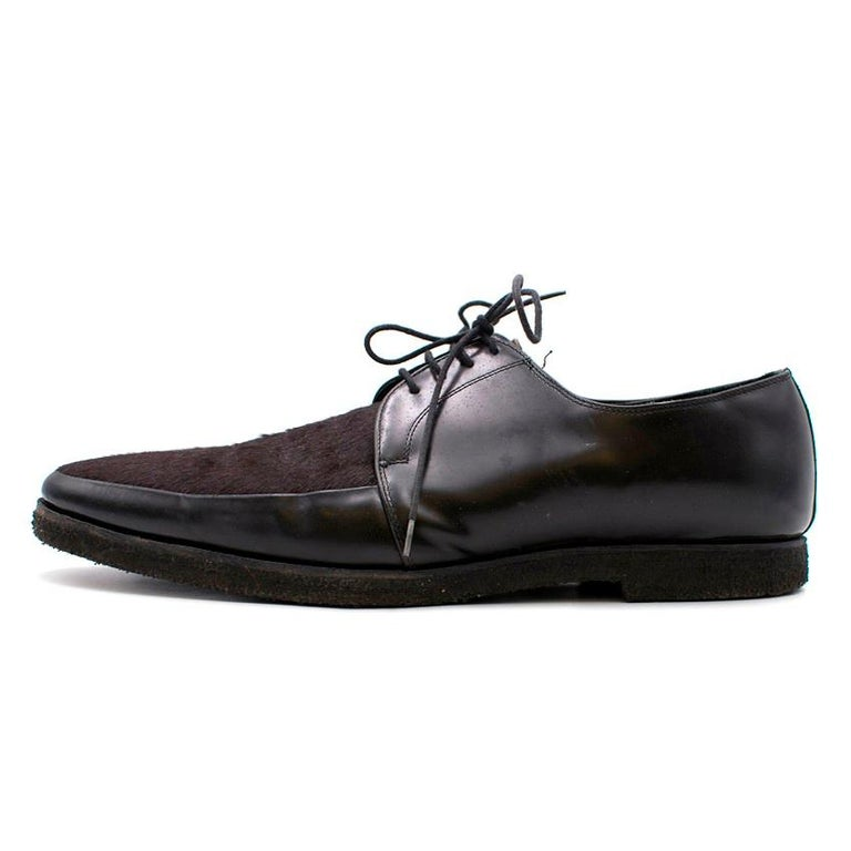 Burberry Men's Calf-Hair Shoes - Size EU 44 In Excellent Condition For Sale In London, GB