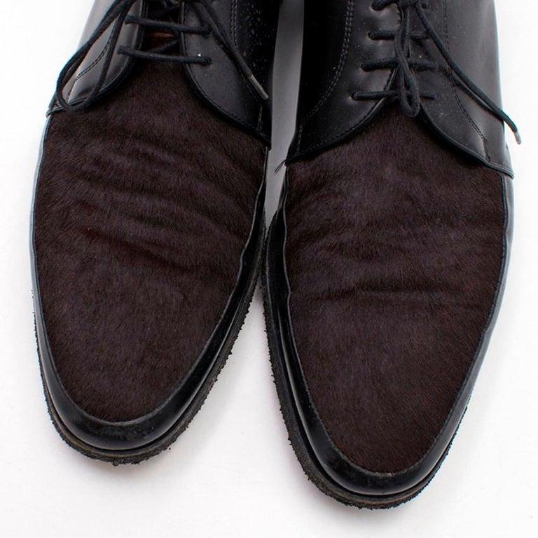 Women's Burberry Men's Calf-Hair Shoes - Size EU 44 For Sale