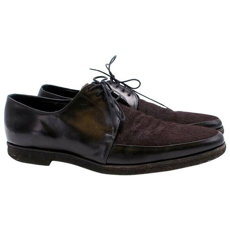 Burberry Men's Calf-Hair Shoes - Size EU 44 For Sale