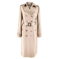Burberry Metallic Silk Double-Breasted Wrap Trench Coat 10 (UK)
