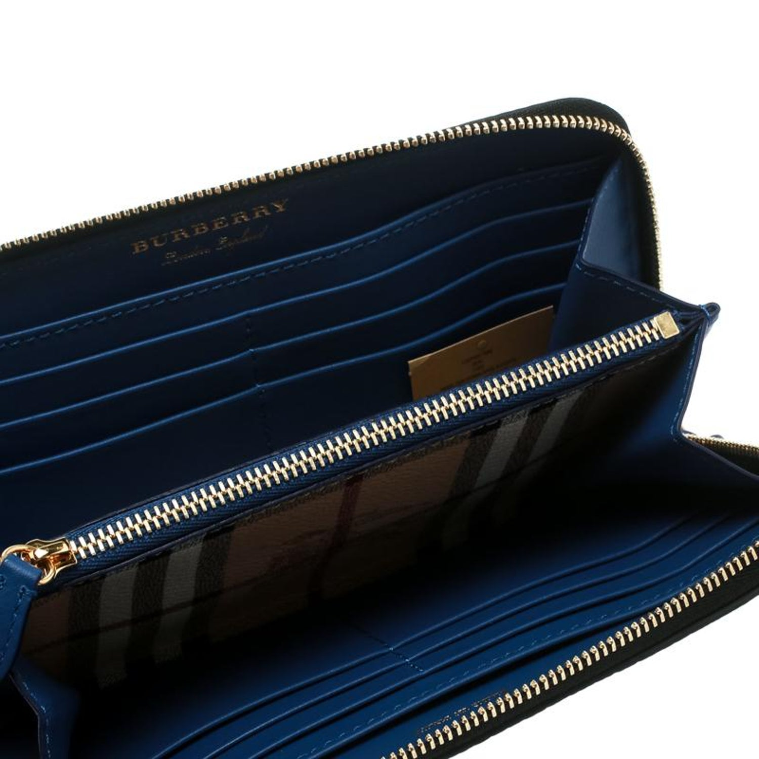 401db0645d3 Burberry Monochrome Check Leather Creature Appliqué Zip Around Wallet For  Sale at 1stdibs