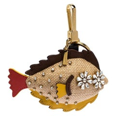 Burberry Multicolor Jute and Leather The Sole Fish Charm