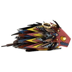 Burberry Multicolor Leather Hedgehog Bag Charm