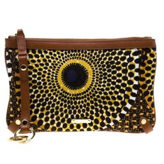 Burberry Multicolor Printed Canvas Clutch