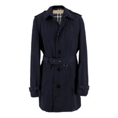Burberry Navy Belted Trench Coat SIZE XL