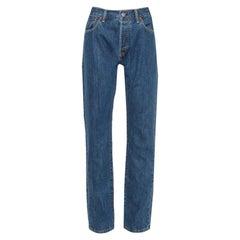Burberry Navy Blue Denim Straight Leg Farndon Jeans L