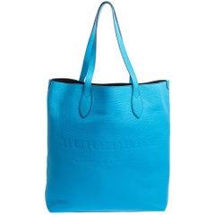 Burberry Neon Blue Leather Remington Tote