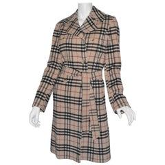 Burberry Nova Check Cashmere-Blend Belted Coat