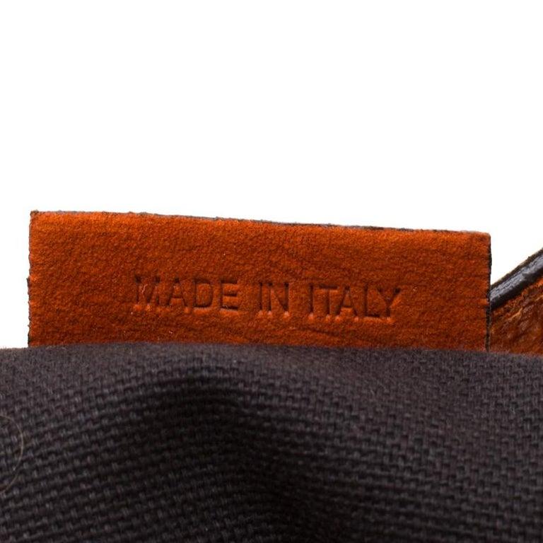 Women's Burberry Orange Nubuck Leather Hobo For Sale