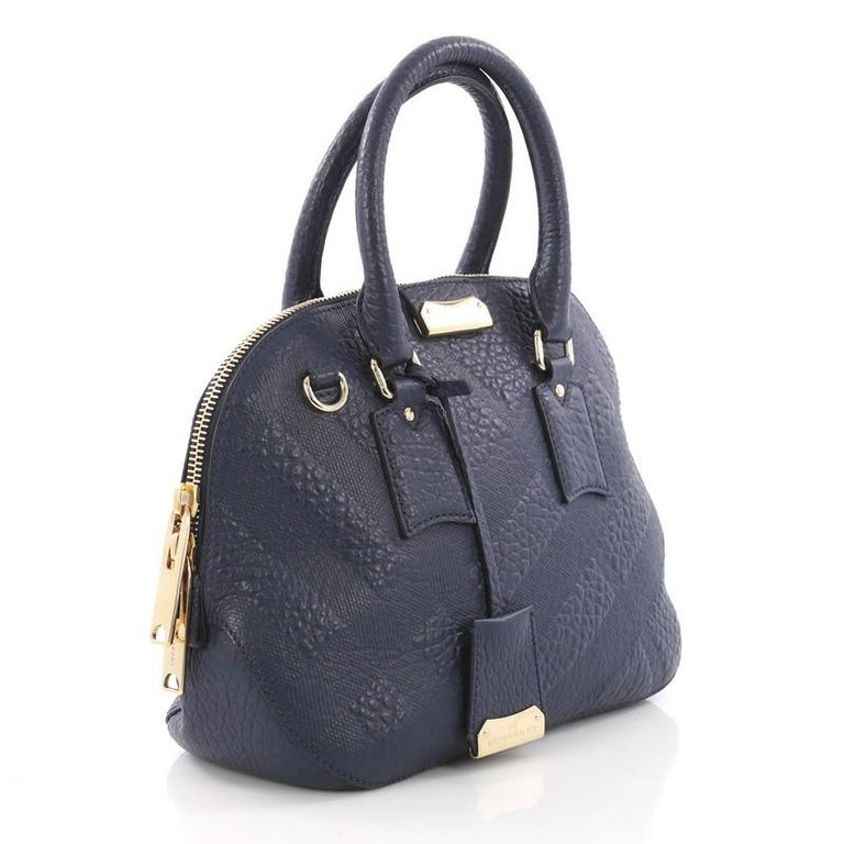 e43b132f3549 Burberry Orchard Bag Check Embossed Leather Small For Sale at 1stdibs