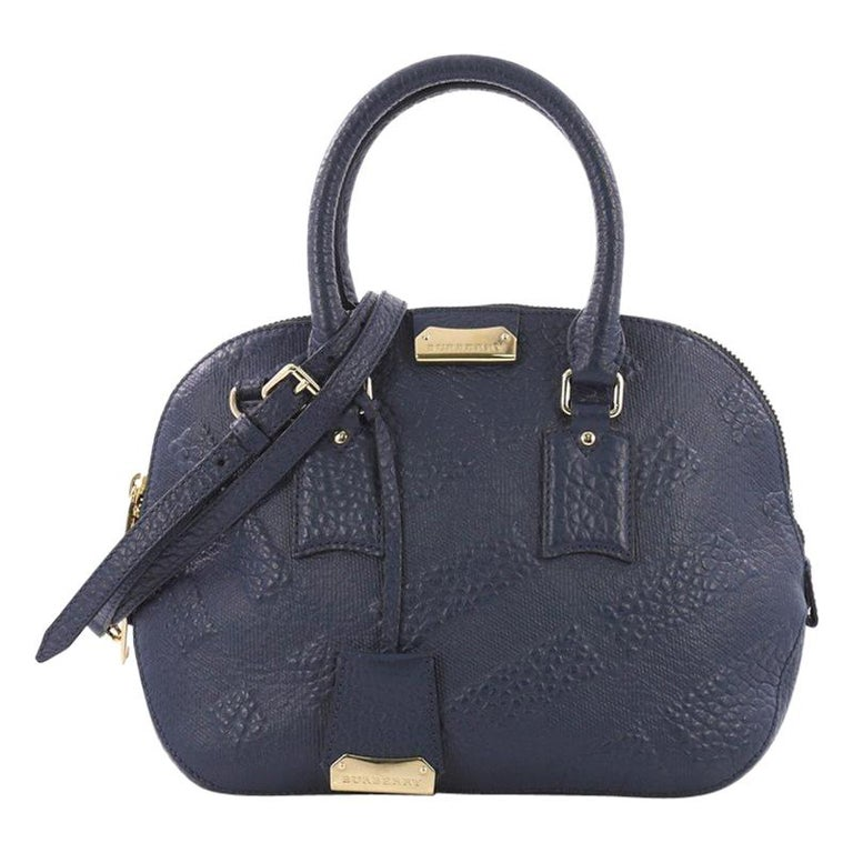 a6d97659b64e Burberry Orchard Bag Check Embossed Leather Small For Sale at 1stdibs