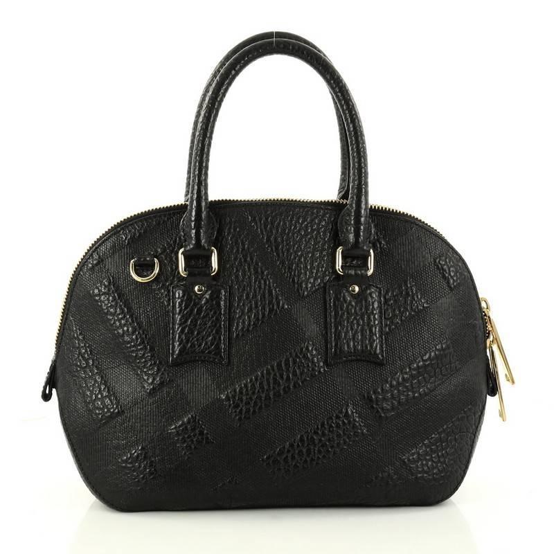 1stdibs Black Leather Day - Evening Bag W/ Painted Porcelain Mounts 1950 uYkOBKaK