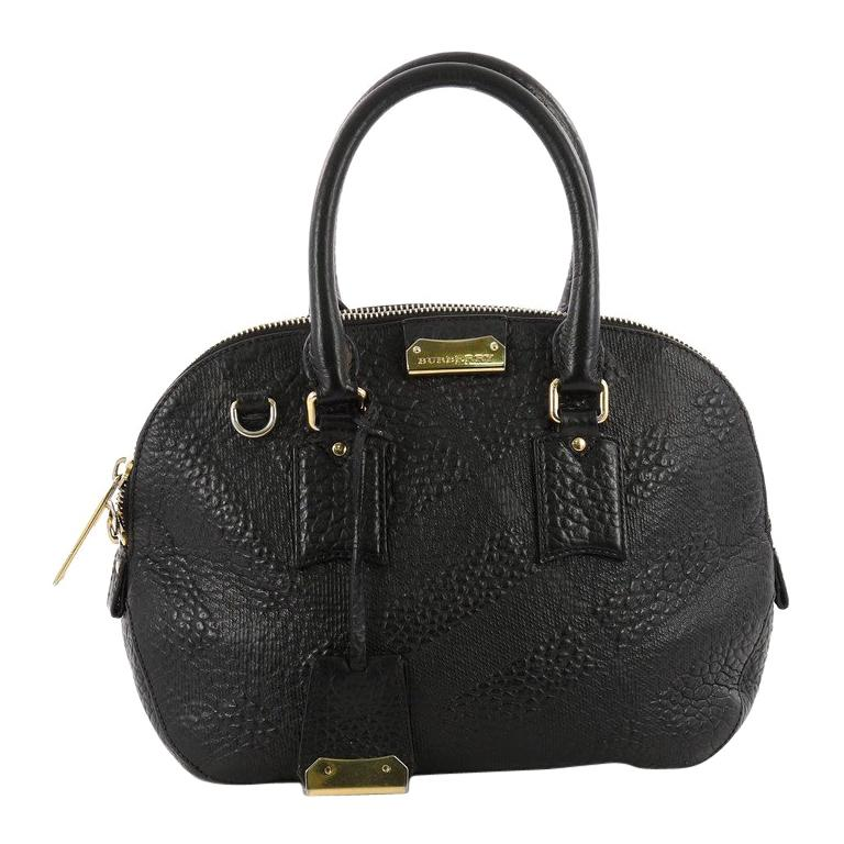 62e8659bb9c2 Burberry Orchard Bag Embossed Check Leather Small For Sale at 1stdibs