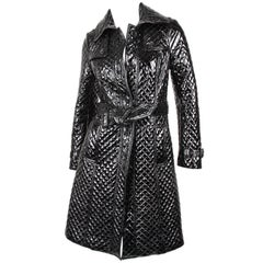 Burberry Patent Lambskin Leather Coat