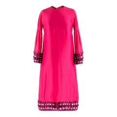 Burberry Pink Jewelled Midi Dress
