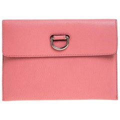 Burberry Pink Leather Clutch
