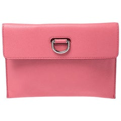 Burberry Pink Leather Patton Clutch